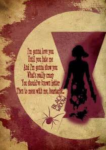 Black widow baby quotes and words to live by