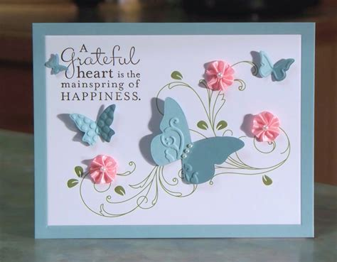 Handmade Thank You Cards - handmade thank you card stin up pursuit of happiness