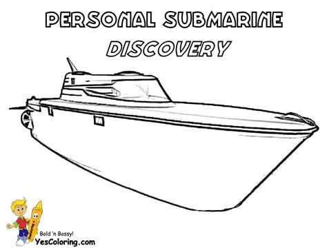 free coloring pages of speed boat