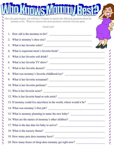 Baby Shower Questionnaire by Image Result For Questionnaire Baby Shower S