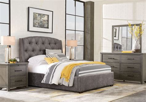 urban plains gray  pc king upholstered bedroom king bedroom sets colors