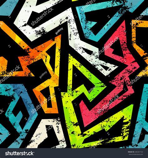 urban pattern vector urban grunge geometric seamless pattern stock vector
