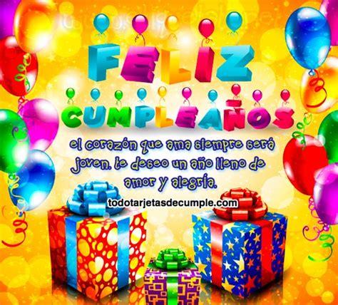 imagenes de cumpleaños para brenda tarjetas de feliz cumplea 241 os coloridas con frases