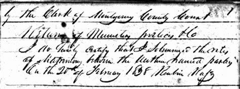 Montgomery Marriage Records Using Tennessee Marriage Records