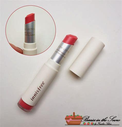 Innisfree Color Glow Lipstick review innisfree color glow lipstick autumn