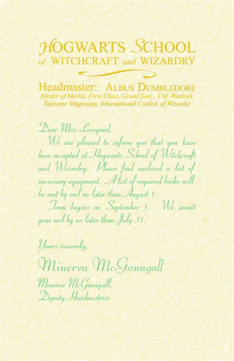 Acceptance Letter Hogwarts Font Harry Potter Hogwarts Letter Font Image Search Results