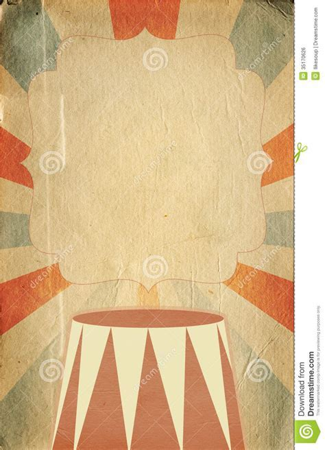 Retro Circus Style Poster Template On Rhombus Background