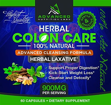 Best Herbs For Purging And Detoxing by Herbal Colon Care 60 Capsules All Laxative