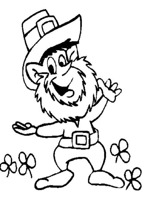 leprechaun coloring pages dr odd