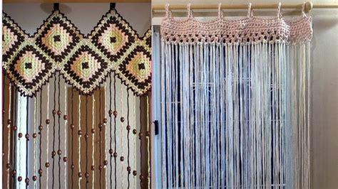 como hacer tu cortina  tu ventas tejidas  crochet imagenes youtube