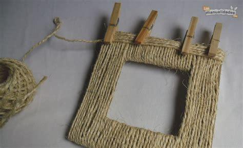 decorar cajas de carton con hilo marco de hilo sisal para un regalo a mano imujer
