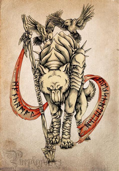 fenrir tattoo norse fenrir www pixshark images galleries