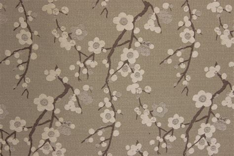 cherry blossom upholstery fabric cherry blossom greige the fabric mill