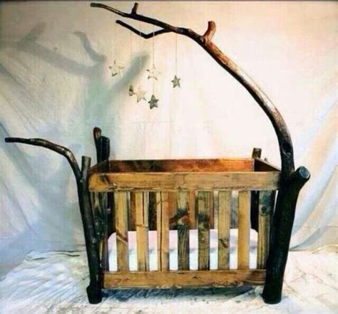 Awesome Baby Cribs Pallet And Branches Baby Crib Future Tiny Human Stuff