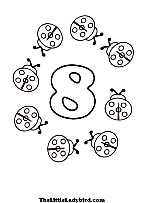 coloring pages for number 8 image gallery number coloring 8