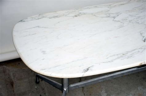 Marble Conference Table Impressive White Marble Dining Conference Table By Eames For Herman Miller At 1stdibs
