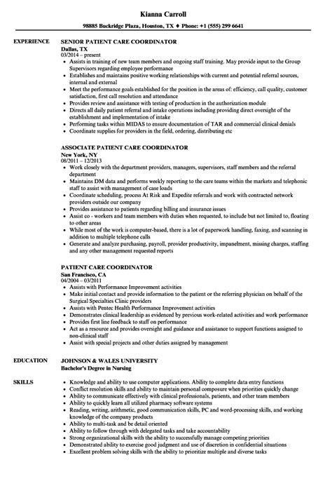 resume format for office coordinator patient care patient care coordinator resume sles velvet