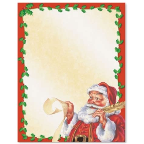 free printable santa letter borders old fashioned santa border paper paperdirect