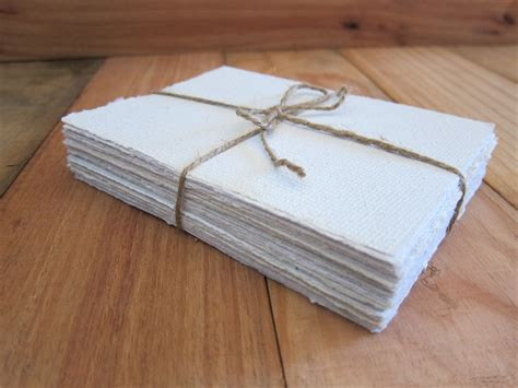 Handmade Writing Paper - white handmade paper recycled paper wedding paper