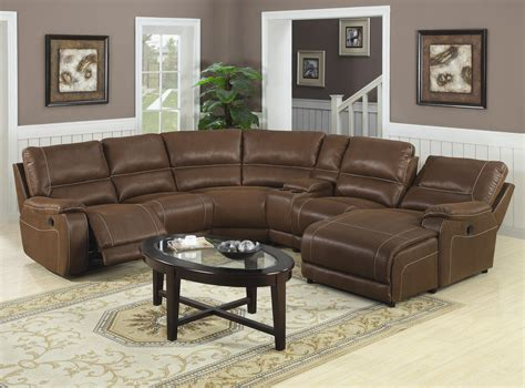 Leather Sectionals With Chaise And Recliner by Light Brown Sofa With Chaise And Reclining On Brown Harwood Floor Furniture Awesome Reclining