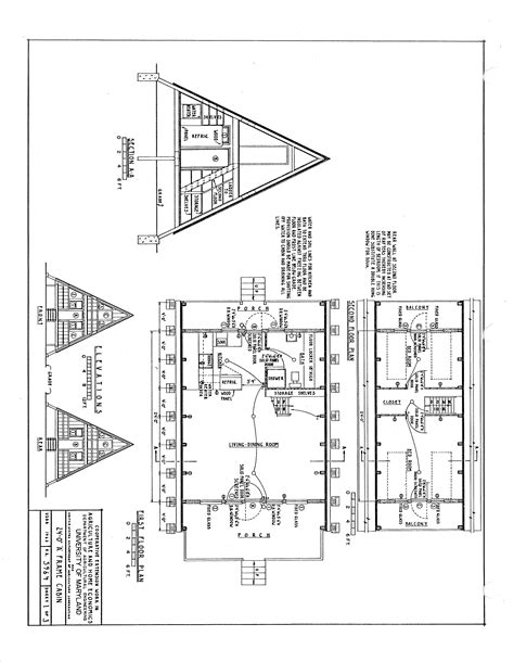 A Frame Cottage Floor Plans by A Frame Cabin Plans Sds Plans
