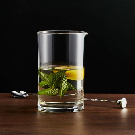cocktail mixing glass reviews crate  barrel