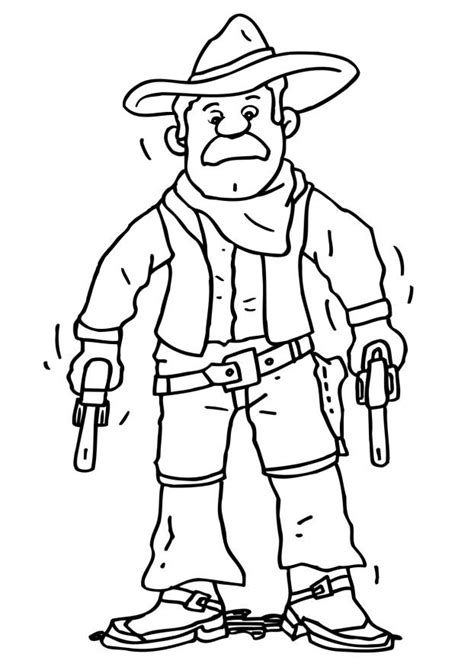 Free Printable Cowboy Coloring Pages For Kids And Cowboy Coloring Pages Printable