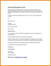 5 Letter Of Resignation Sales Assistant Letter Format For