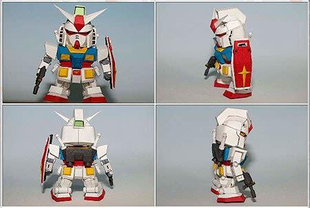 Sd Gundam Papercraft - sd rx 78 2 gundam papercraft paperkraft net free