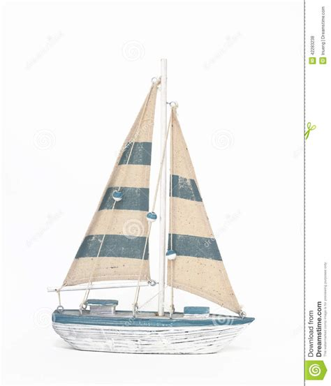 sailboat no background wooden toy sailing boat on white background stock photo
