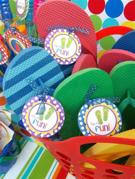 Pool Party Giveaways - 17 best images about flip flop theme on pinterest barley sugar personalized flip