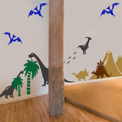 dino wall stickers dinosaur wall stickers uk c wall decal