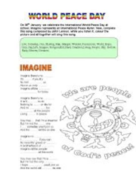 Peace Day Worksheets by Teaching Worksheets Peace Day