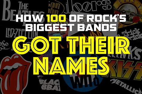 names of rock singers 2016 how 100 of rock s biggest bands got their names