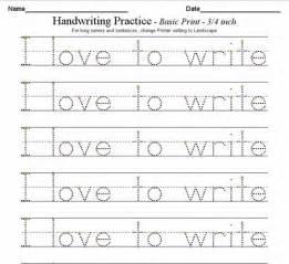 handwriting worksheets alphabet hand writing