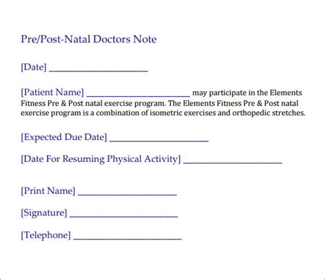 doctors excuses sample doctor note template 19 free documents in pdf word