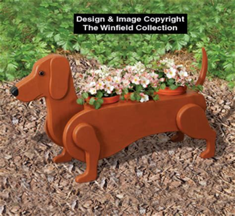 planter woodworking plans dachshund flower pot planter plan