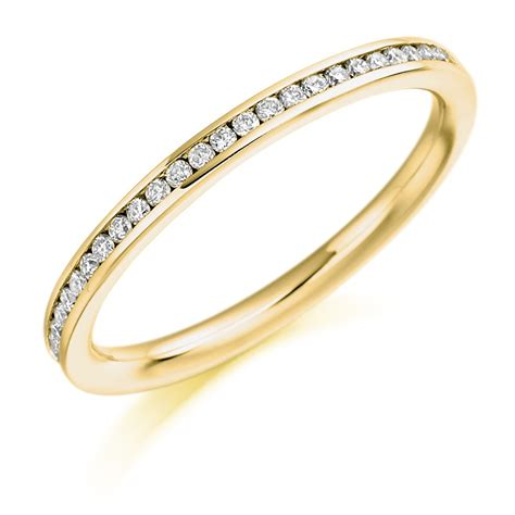 18ct yellow gold half set eternity ring 0 20ct