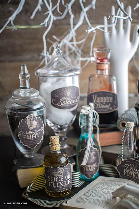 printable halloween apothecary label    spooky