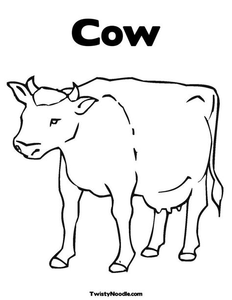 cow template for preschool www imgkid com the image