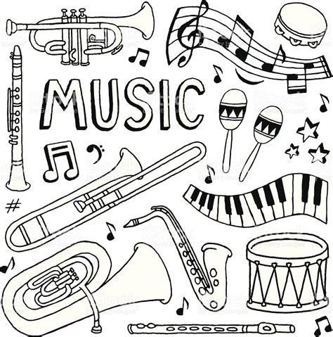 musical doodle free vector doodles stock vector 165977190 istock