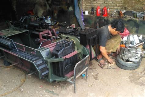 modifikasi vespa tank keren tamatan smp bisa modif dan ekspor vespa tank ke