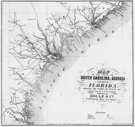 and south civil war map south carolina civil war maps