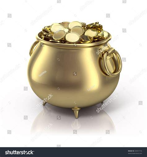 Stock Pot Golden pot gold stock illustration 44591716