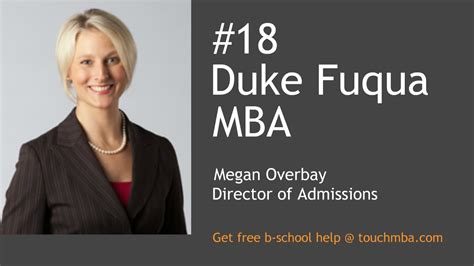 Duke Fuqua Mba Reapplicant by Duke Fuqua Mba Admissions With Ms Megan Overbay