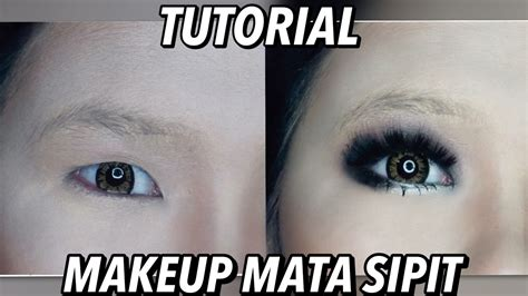 Tutorial Eyeshadow Mata Sipit | part2 tutorial makeup mata sipit cara pasang bulu mata