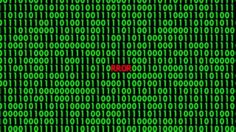 Binary Code Wall Animation Stock Footage 3191083