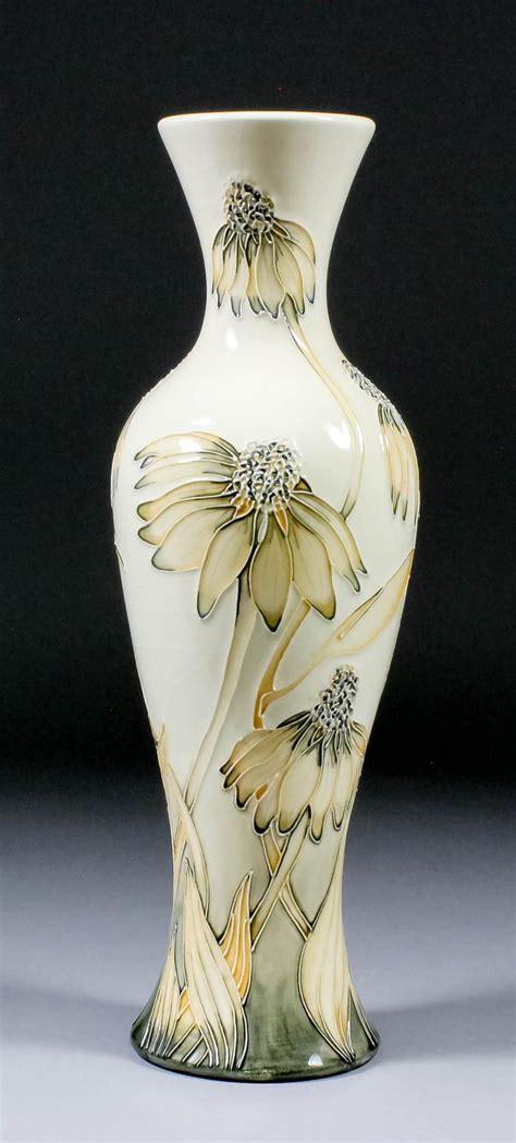 a moorcroft pottery vase shape no 93 lined and decor