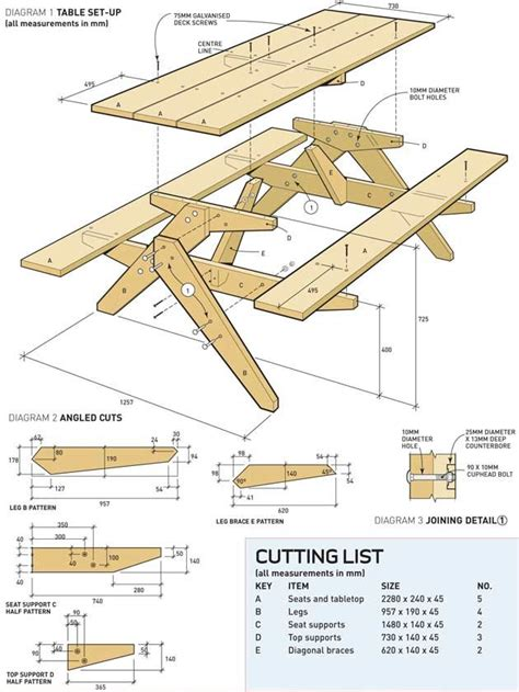 picnic bench plans best 20 kids picnic table plans ideas on pinterest