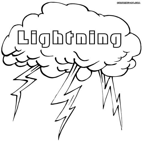 Lightning Coloring Pages Coloring Pages To Download And Lightning Coloring Pages